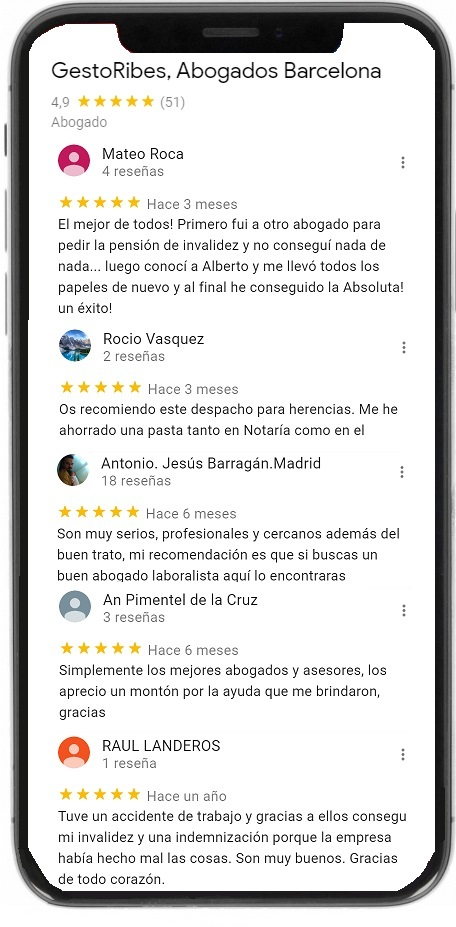 Reviews google gestoribes abogados